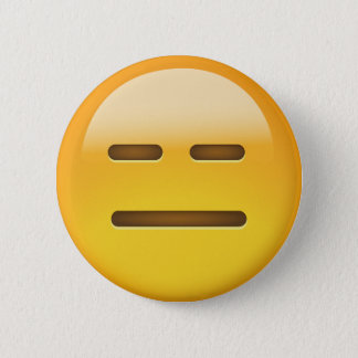 Expressionless Face Emoji 6 Cm Round Badge