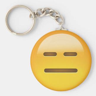 Expressionless Face Emoji Key Ring