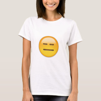 Expressionless Face Emoji T-Shirt