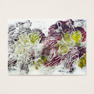Expressive Abstract. Autumn Leaves. Business Card