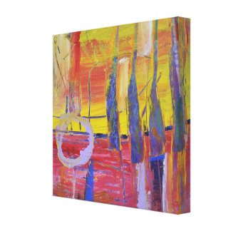 Expressive abstract painting gallery wrapped canvas