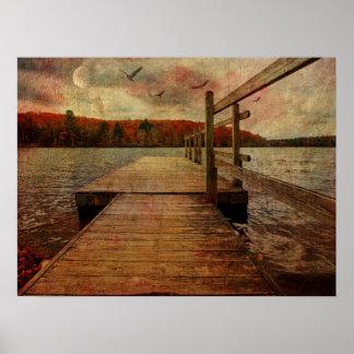 Expressive Lake Poster