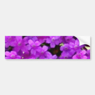 Expressive Wildflowers Purple Flowers Floral Bumper Sticker