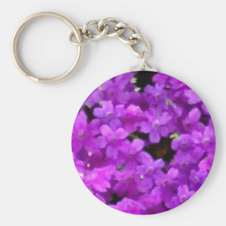Expressive Wildflowers Purple Flowers Floral Keychains