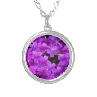 Expressive Wildflowers Purple Flowers Floral Custom Necklace