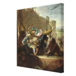 Expulsion of the Huguenots Canvas Print