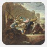 Expulsion of the Huguenots Square Sticker