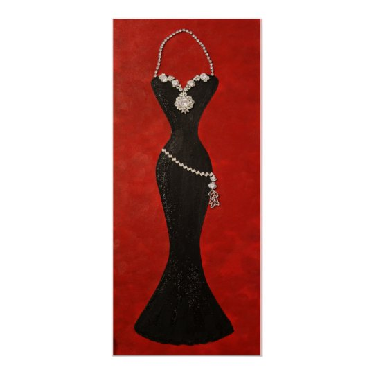"""Exquisite Black Gown"" Poster"