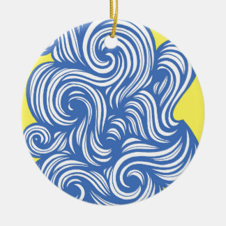 Exquisite Instantaneous Joy Forceful Round Ceramic Decoration