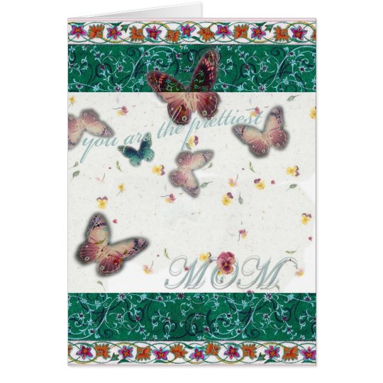 Exquisite mother's day oriental butterfly card