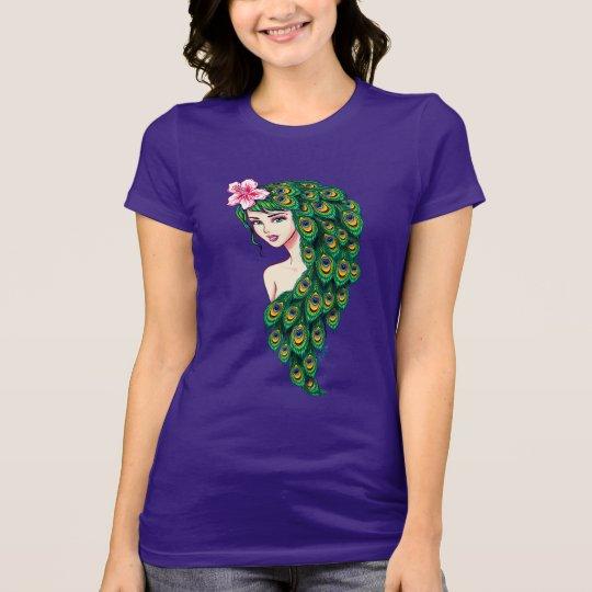 Exquisite Peacock Goddess Art Women's Jersey Shirt