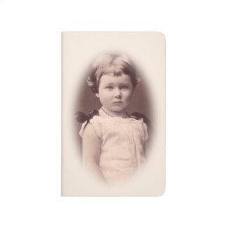 Exquisite vintage image girl notebook