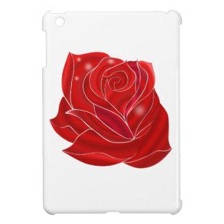 Exquisitely Beautiful Red Rose Flower iPad Mini Cover