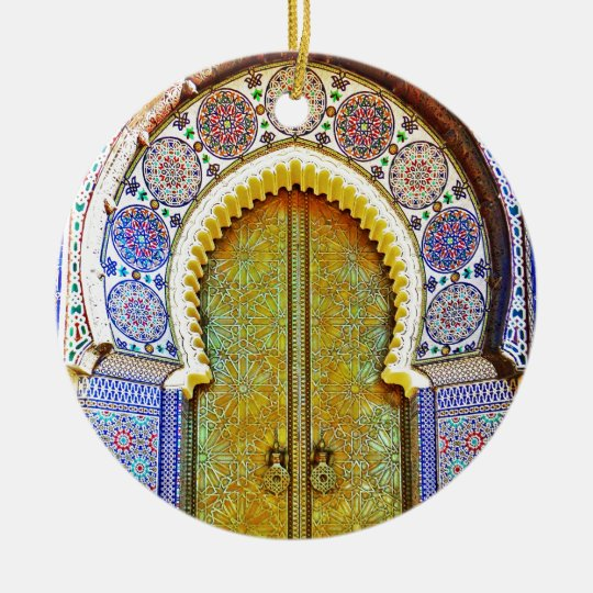 Exquisitely Detailed Moroccan Pattern Door Christmas Ornament