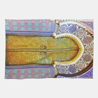 Exquisitely Detailed Moroccan Pattern Door Tea Towel