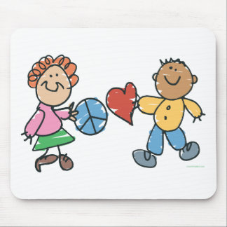 Extended Hands of Peace and Love Mouse Pad