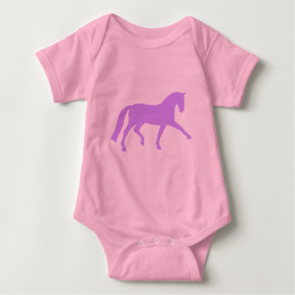 Extended Trot Dressage Horse (purple) Baby Bodysuit