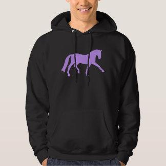 Extended Trot Dressage Horse (purple) Hoodie