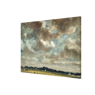 Extensive Landscape with Grey Clouds, c.1821 (oil Canvas Print