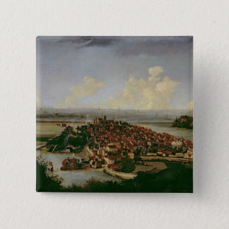 Extensive view of Rye 15 Cm Square Badge
