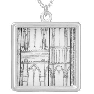 Exterior and Interior Silver Plated Necklace