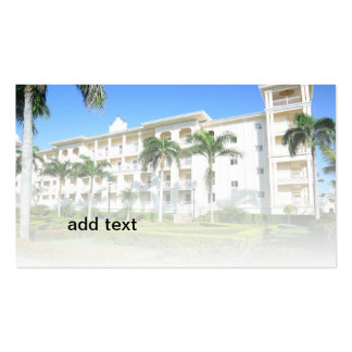 exterior of an upscale resort building Double-Sided standard business cards (Pack of 100)