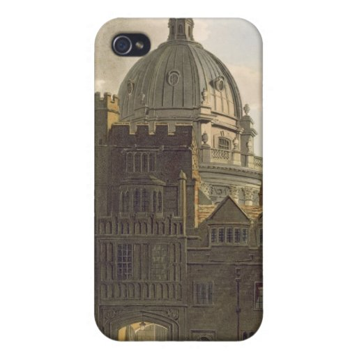 Exterior of Brasenose College and Radcliffe Librar iPhone 4 Cases