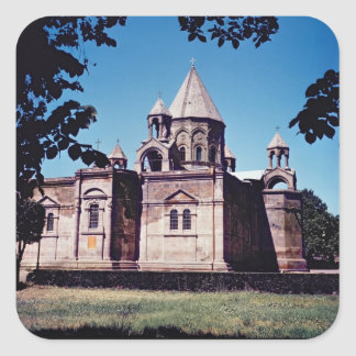 Exterior of Etchmiadzin Cathedral Square Sticker