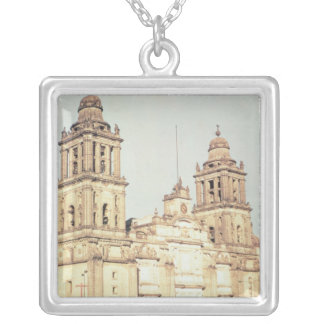 Exterior of Mexico City Cathedral Silver Plated Necklace