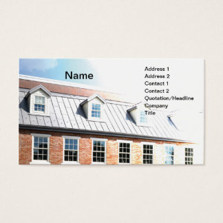 Exterior of modern colonial building business card