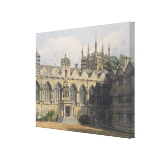 Exterior of Oriel College, illustration from the ' Canvas Print