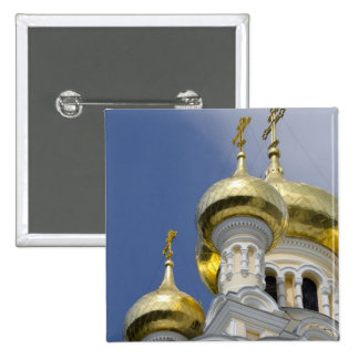 Exterior of Saint Alexander Nevsky Cathedral 3 15 Cm Square Badge