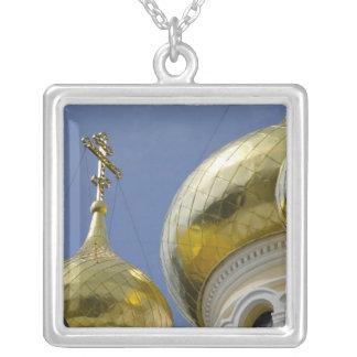 Exterior of Saint Alexander Nevsky Cathedral 4 Silver Plated Necklace