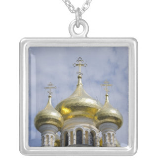 Exterior of Saint Alexander Nevsky Cathedral Silver Plated Necklace