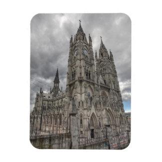 Exterior of the Basilica in Quito, Ecuador Magnet