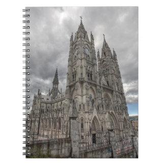 Exterior of the Basilica in Quito, Ecuador Notebooks