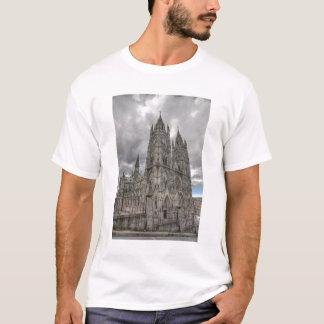 Exterior of the Basilica in Quito, Ecuador T-Shirt