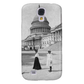 Exterior of the Capitol building with women Galaxy S4 Case