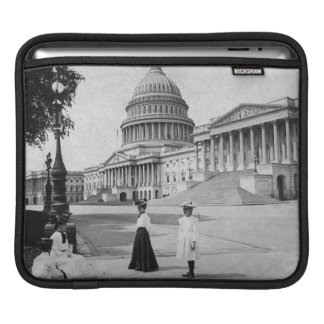 Exterior of the Capitol building with women iPad Sleeve