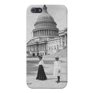 Exterior of the Capitol building with women iPhone 5 Cover
