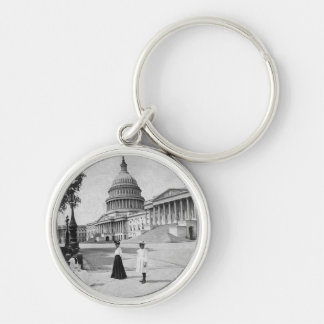 Exterior of the Capitol building with women Key Ring