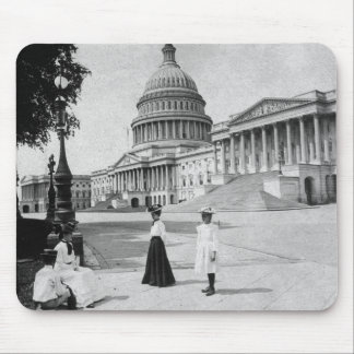 Exterior of the Capitol building with women Mouse Pad