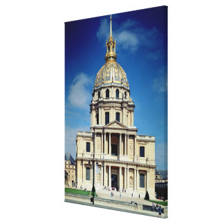 Exterior of the church, begun 1676 (photo) canvas print