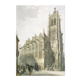 Exterior of the Church of St. Severin, Paris Canvas Print