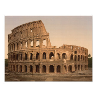 Exterior of the Colosseum, Rome, archival print