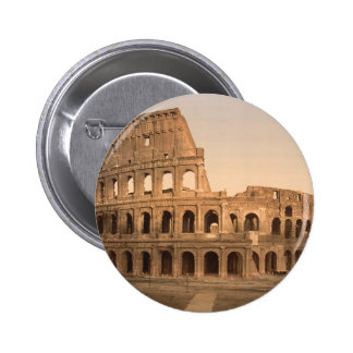 Exterior of the Colosseum, Rome, Italy 6 Cm Round Badge