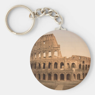 Exterior of the Colosseum, Rome, Italy Basic Round Button Key Ring
