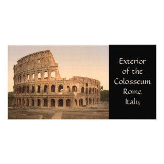 Exterior of the Colosseum, Rome, Italy Card