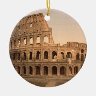 Exterior of the Colosseum, Rome, Italy Round Ceramic Decoration
