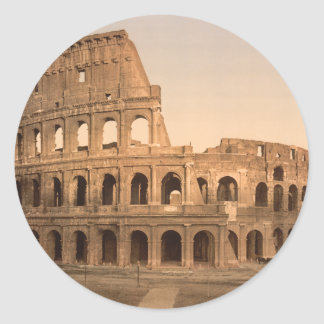 Exterior of the Colosseum, Rome, Italy Round Sticker